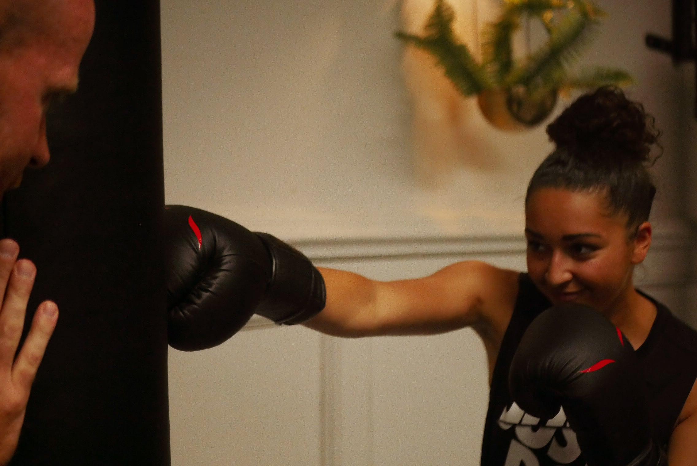 séance de boxe avec ines